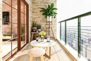 clean apartment deck